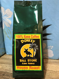 DBS House Roast 100% Kona Whole Bean Coffee - (Medium/Dark Roast) - The Original Donkey Ball Store