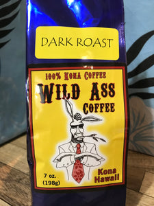 Wild Ass Dark Roast 100% Kona Coffee (Whole Bean) - The Original Donkey Ball Store