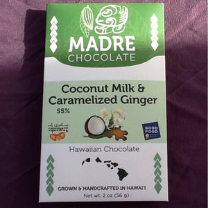 Madre Chocolate - Coconut Milk & Caramelized Ginger 55% Chocolate Bar - The Original Donkey Ball Store