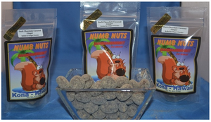 Numb Nuts - Hawaiian Chili Dark Chocolate Mac Nuts - The Original Donkey Ball Store