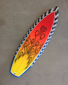5'6 Flatdeck - Flame spray.