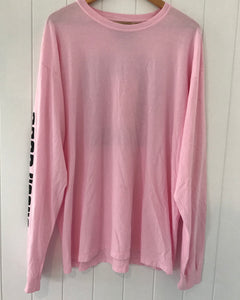 Box Logo Long Sleeve Tee - Pink for NBCF
