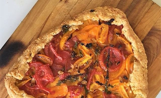 Tomato Crostata With Honey-Thyme Glaze