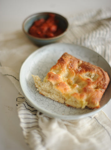 Ligurian Focaccia with marinara dipping sauce