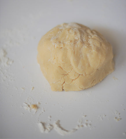 Buttery dough after mixing just before rolling out.