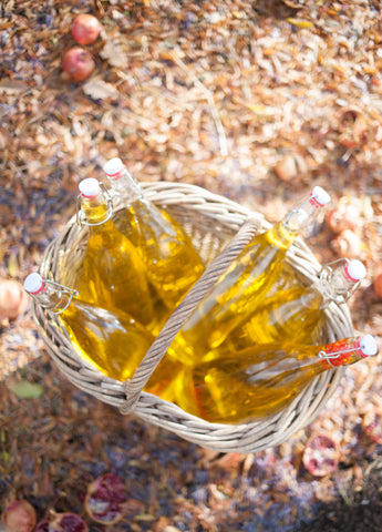 saffron water in french basket