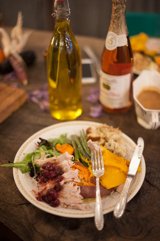 thanksgiving meal at peace and plenty farm