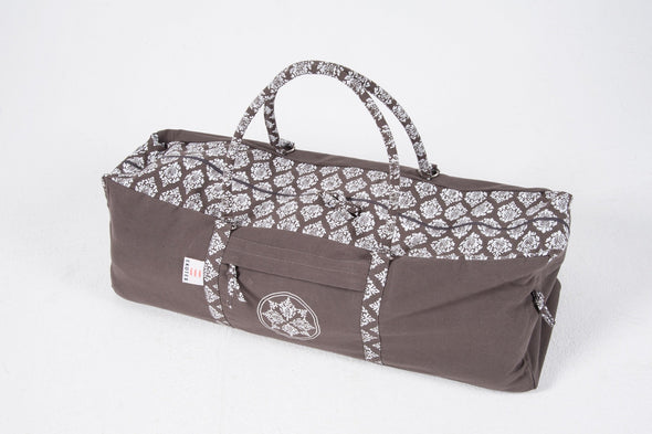 Ekotex Yoga Bags and Carry Straps Grey Organic Cotton Kit Bag