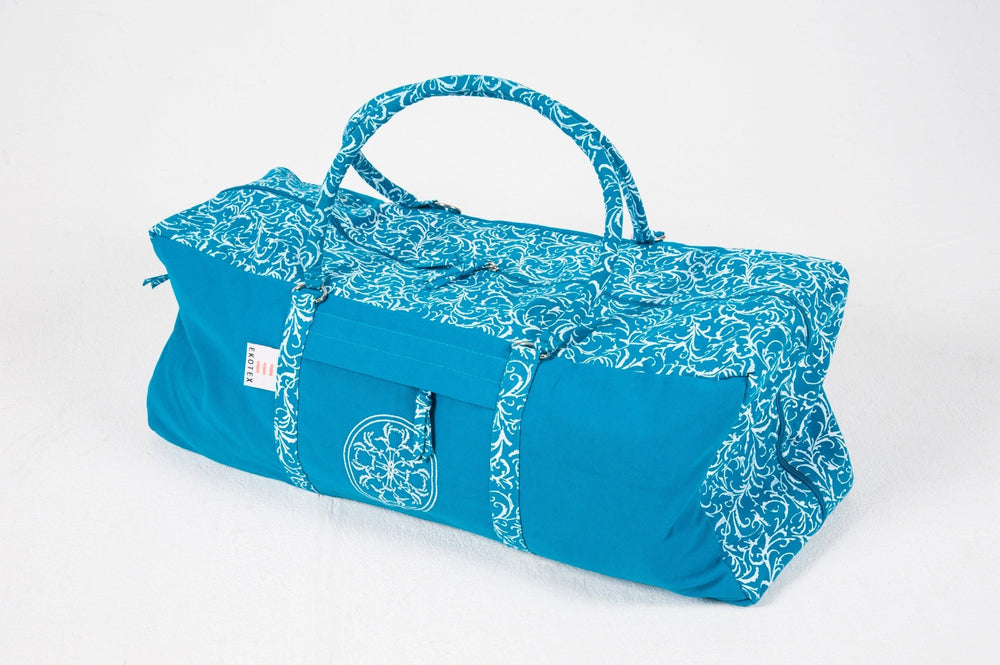 Turquoise Organic Cotton Kit Bag - Ekotex Yoga