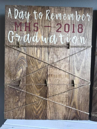 Rustic Wood Sign - GRADUATION PHOTO HOLDER SIGN!!
