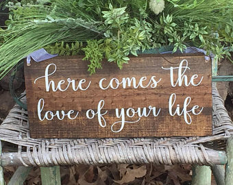 Rustic Wood Sign - WEDDING 10 CUSTOM SIGN PACKAGE!