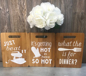 Rustic Wood Sign - FUNNY KITCHEN COLLECTION
