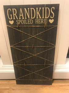 Rustic Wood Sign - FAMILY & GRANDKIDS PHOTO COLLAGE!!