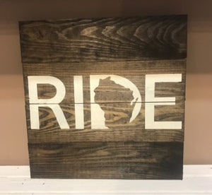 Rustic Wood Sign - WI STATE WORD SIGNS!  BEST SELLERS!!