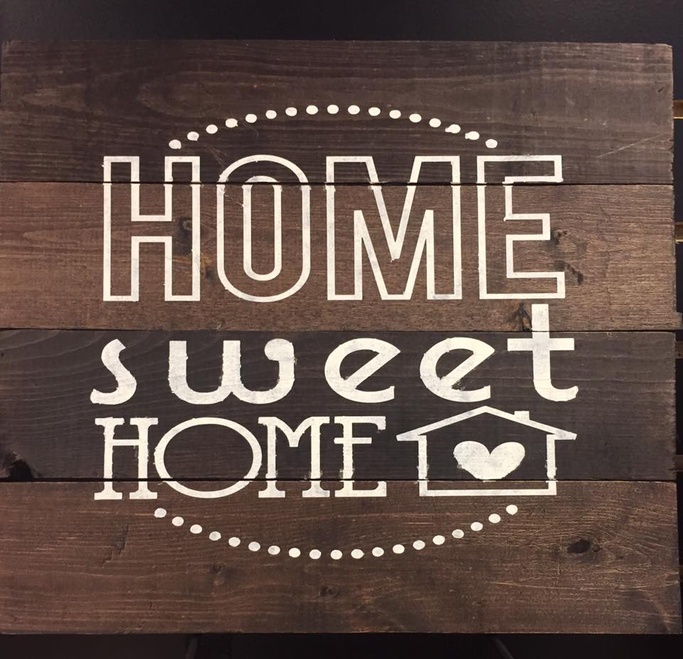 Rustic Wood Sign - HOME SWEET HOME