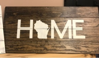 Rustic Wood Sign - HOME