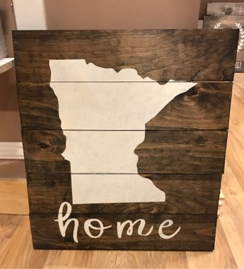Rustic Wood Sign - CHOOSE YOUR STATE!