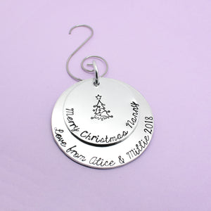 Personalised Nanny Christmas Tree Decoration, Personalised Nanny Christmas Ornament, Merry Christmas Nanny, Nanny Christmas Gift, Nan Xmas