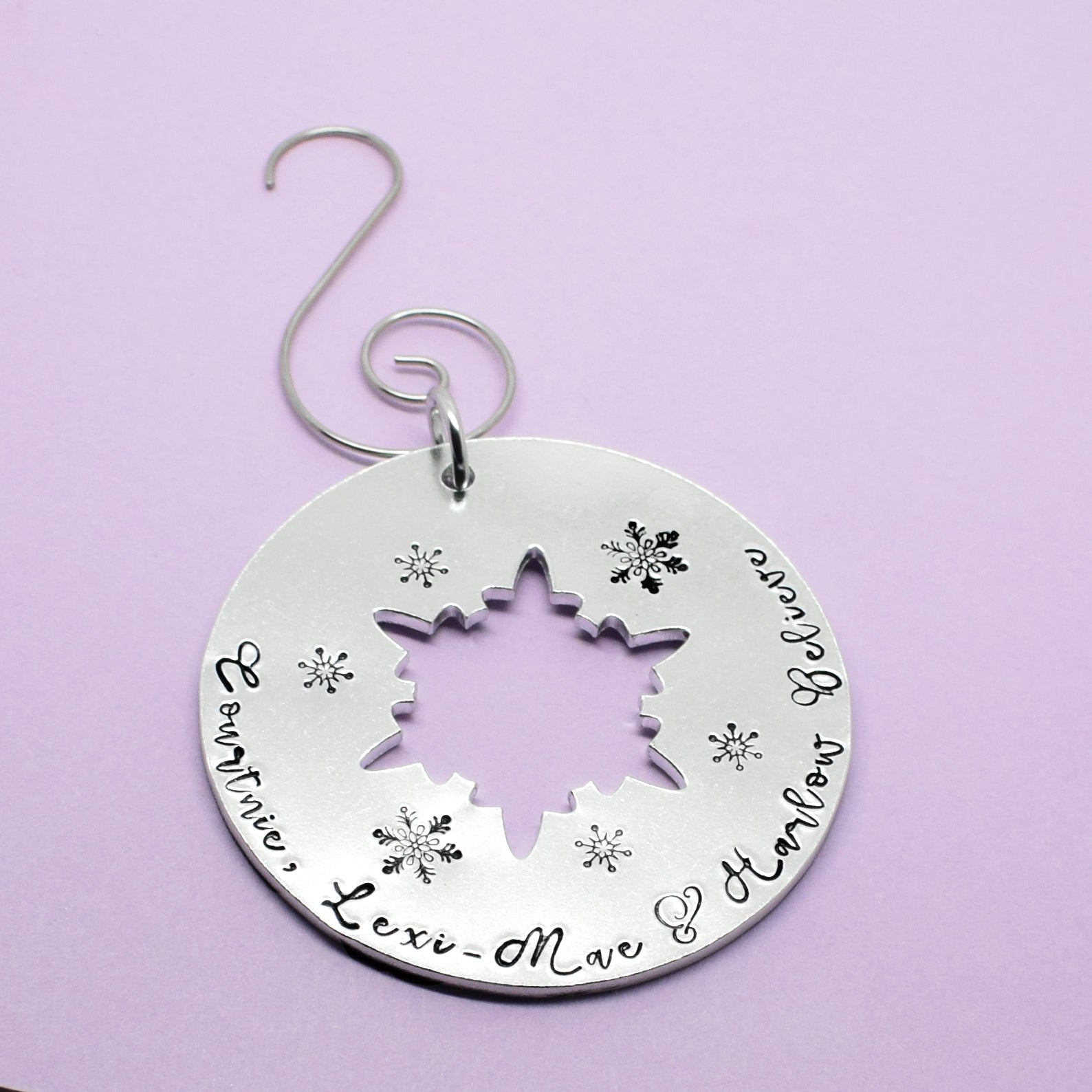 We Believe Personalised Christmas Tree Decoration, Reindeer Personalised Tree Decoration, Children's Tree Ornament, I Believe Tree Ornament