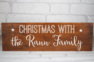 Family Christmas Sign, Christmas With The Sign, Family Christmas Plaque, Personalised Christmas Sign, Surname Christmas Sign Plaque, Pine