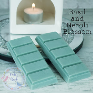 Basil And Neroli Blossom Wax Melt Snap Bar, Herb Scented Wax, Soy Wax Melts, Clean Scented Wax Melts, Fresh Scent Wax Melts