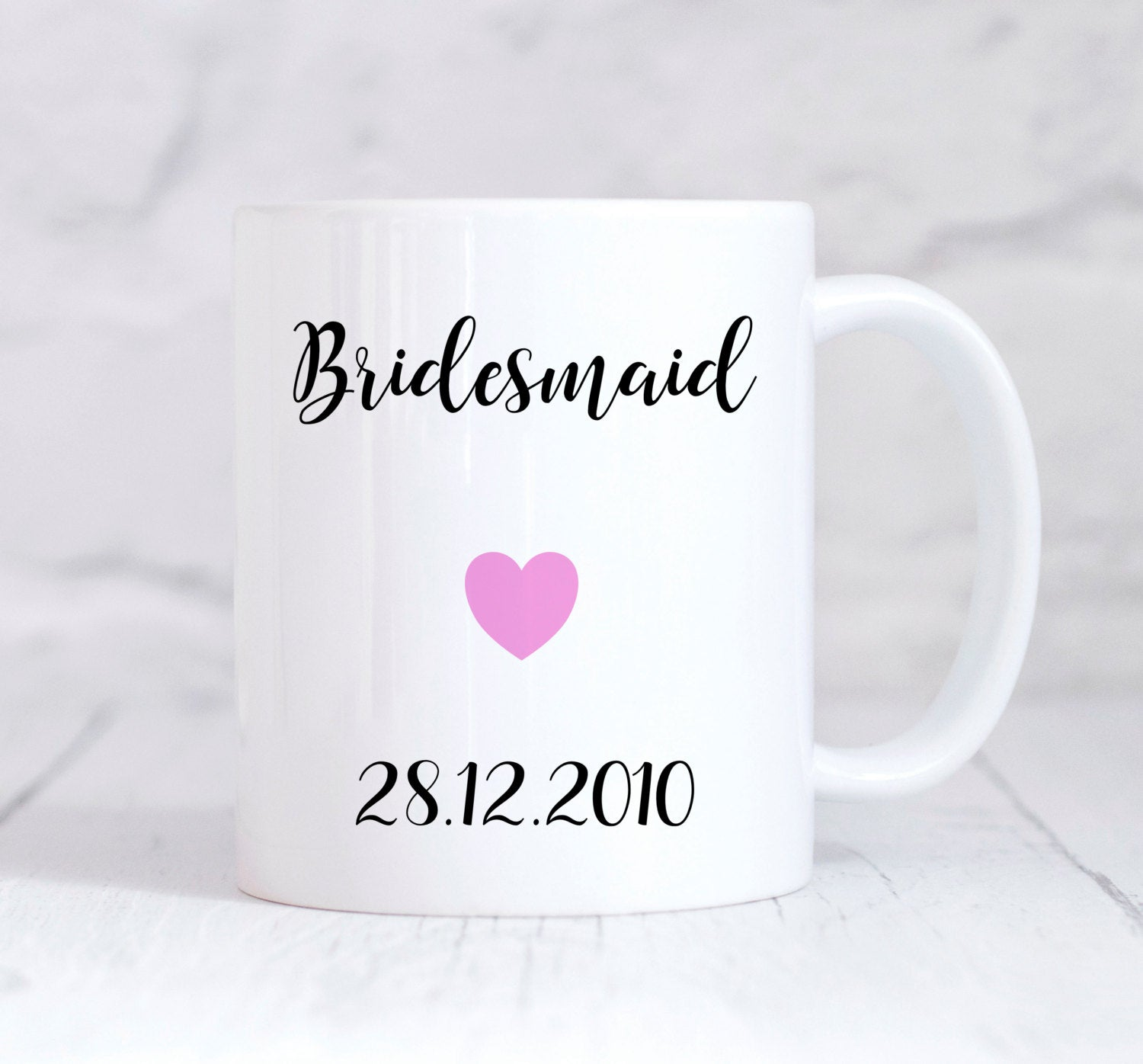 Bridesmaid Mug, Bridesmaid Gift, Wedding Thank You Gift, Personalised Wedding Gift, Personalised Mug, Coffee Mug, Tea Mug, Cup