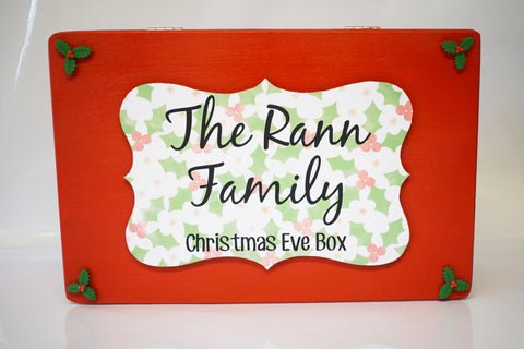 Wooden Personalised Christmas Eve Box, Night Before Christmas Eve Box, Family Christmas Eve box, Grandchildren, Traditional Christmas Gift