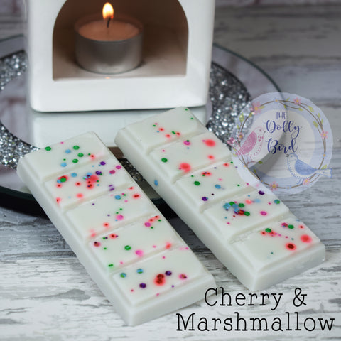 Cherry Marshmallow Wax Melt Snap Bar, Cherry Scent Wax, Soy Wax Melts, Bakery Scented Wax Melts, Fruity Wax Melts, Sweet Wax Melt