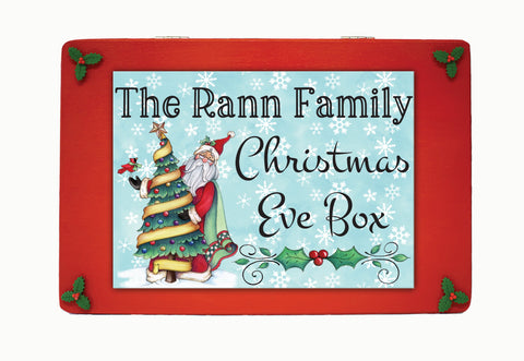 Family Christmas Eve box, Wooden Personalised Christmas Eve Box, Night Before Christmas Eve Box, Grandchildren, Traditional Christmas Gift, Personalised wooden Christmas Eve box