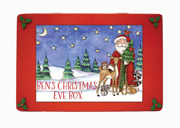 Wooden Personalised Christmas Eve Box, Christmas Eve box, Scandinavian Style Wooden Personalised Christmas Eve Box, Night Before Christmas Box, Christmas Box, Grandchildren, Traditional, kids
