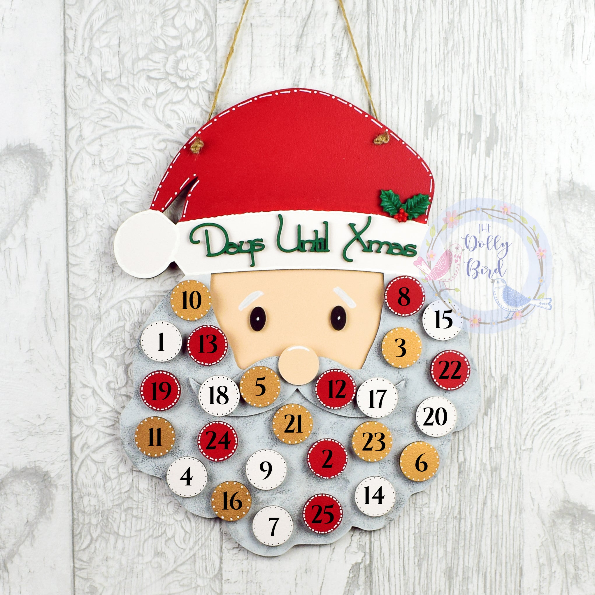 Christmas Countdown Sign, Christmas Countdown Plaque, Children's Christmas Countdown, Sleeps Until Christmas Sign, Santa Sign, Decoration