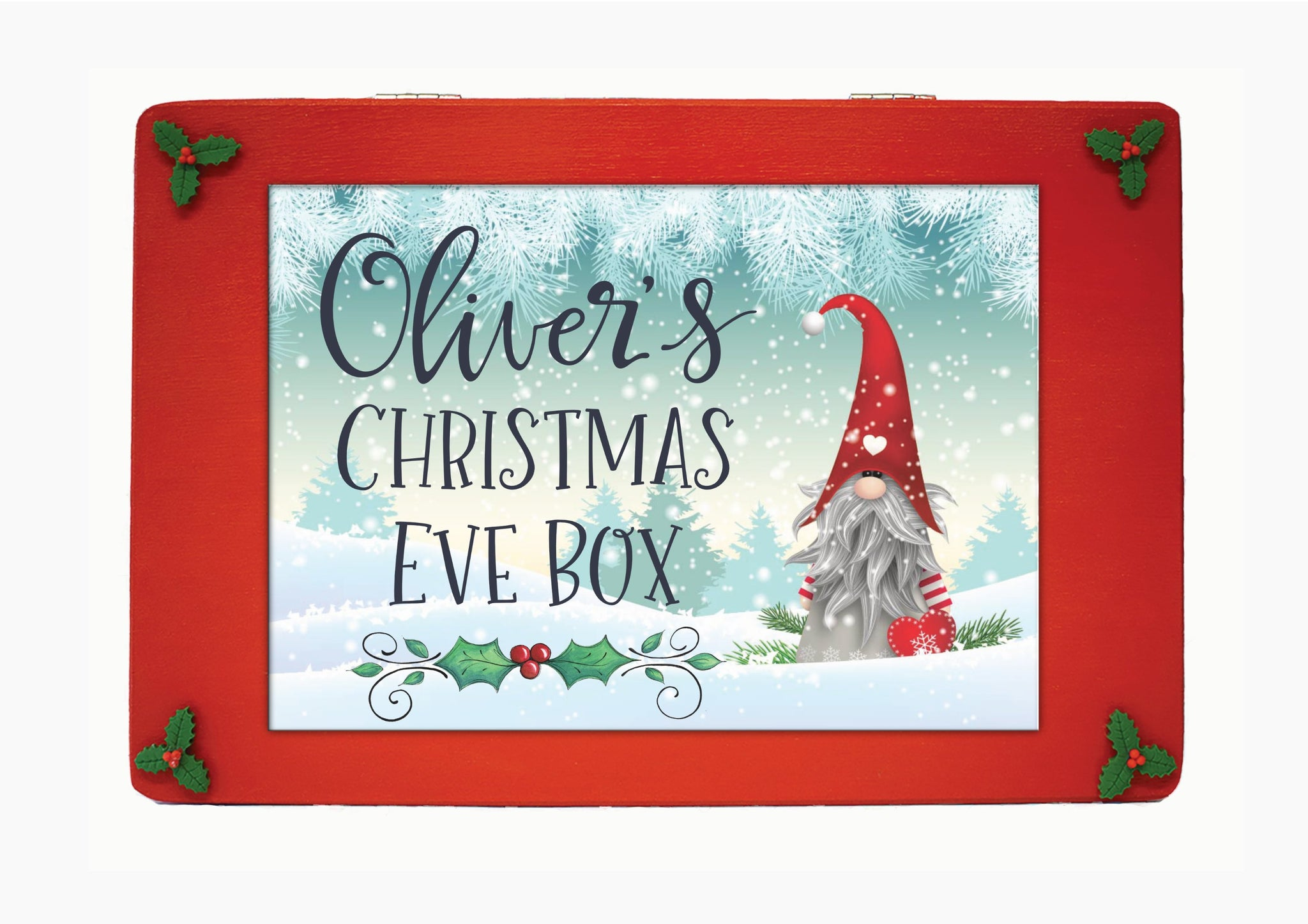 Family Christmas Eve box, Wooden Personalised Christmas Eve Box, Scandinavian Christmas Eve Box, Grandchildren, Traditional Christmas Gift