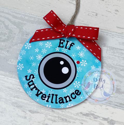 Elf Surveillance Tree Decoration, Santa Camera Tree Ornament Decoration, Santa Camera, Santa Cam, Elf Camera, North Pole Camera, Santa Camera Tree Decoration, Good Behaviour Camera, Tree Ornament