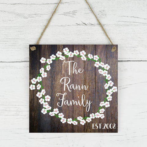Family Name Sign, Personalised Family Name Sign, Family Established Sign, Personalised Wedding Gift, Housewarming Gift, Last Name Sign