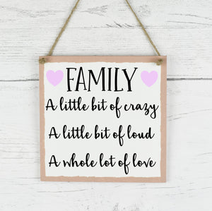 Family Quote Sign, Family Quote Plaque, Family Sign, Rustic Family Plaque, Home Decor Quote Sign, New Home Gift, New Parent Gift, Wedding, Housewarming Gift