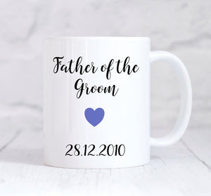 Father Of The Groom Mug, Father Of The Groom Gift, Wedding Thank You Gift, Personalised Wedding Gift, Personalised Mug, Coffee Mug, Tea Mug, Cup