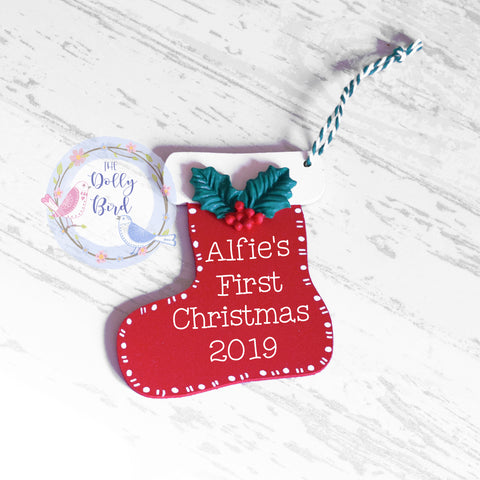 Babies 1st Christmas Personalised Tree Decoration, First Christmas 2019 Tree Decoration, Babies 1st Christmas Tree Decoration, Babies 1st Christmas, Personalised Tree Bauble, New Baby Gift