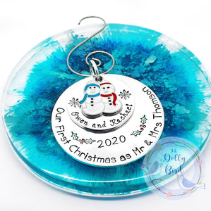 Our First Christmas as Mr & Mrs Christmas Tree Decoration, First Christmas Married 2020 Tree Decoration, Mr and Mrs 2020, Xmas Tree Ornament