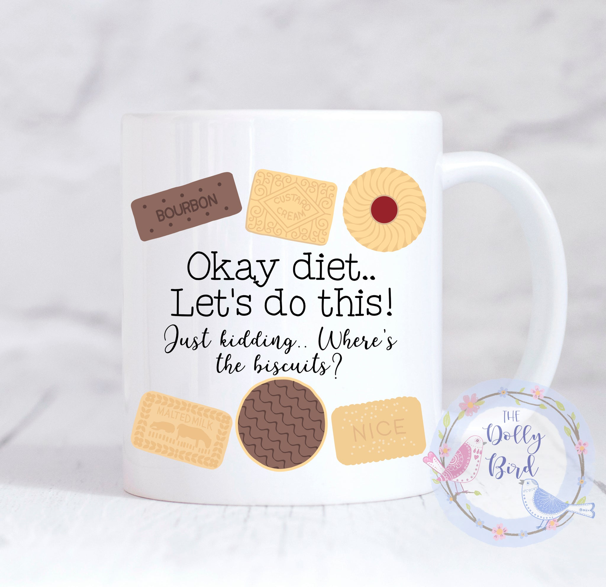 Funny Biscuit Dieting Quote Mug, Funny Biscuit Mug, Funny Diet Mug, Funny Biscuit Dieting Mug, Biscuit Lover Mug, Dieting Gift, Biscuit Lover Gift, Mug For Her, Mug For Him