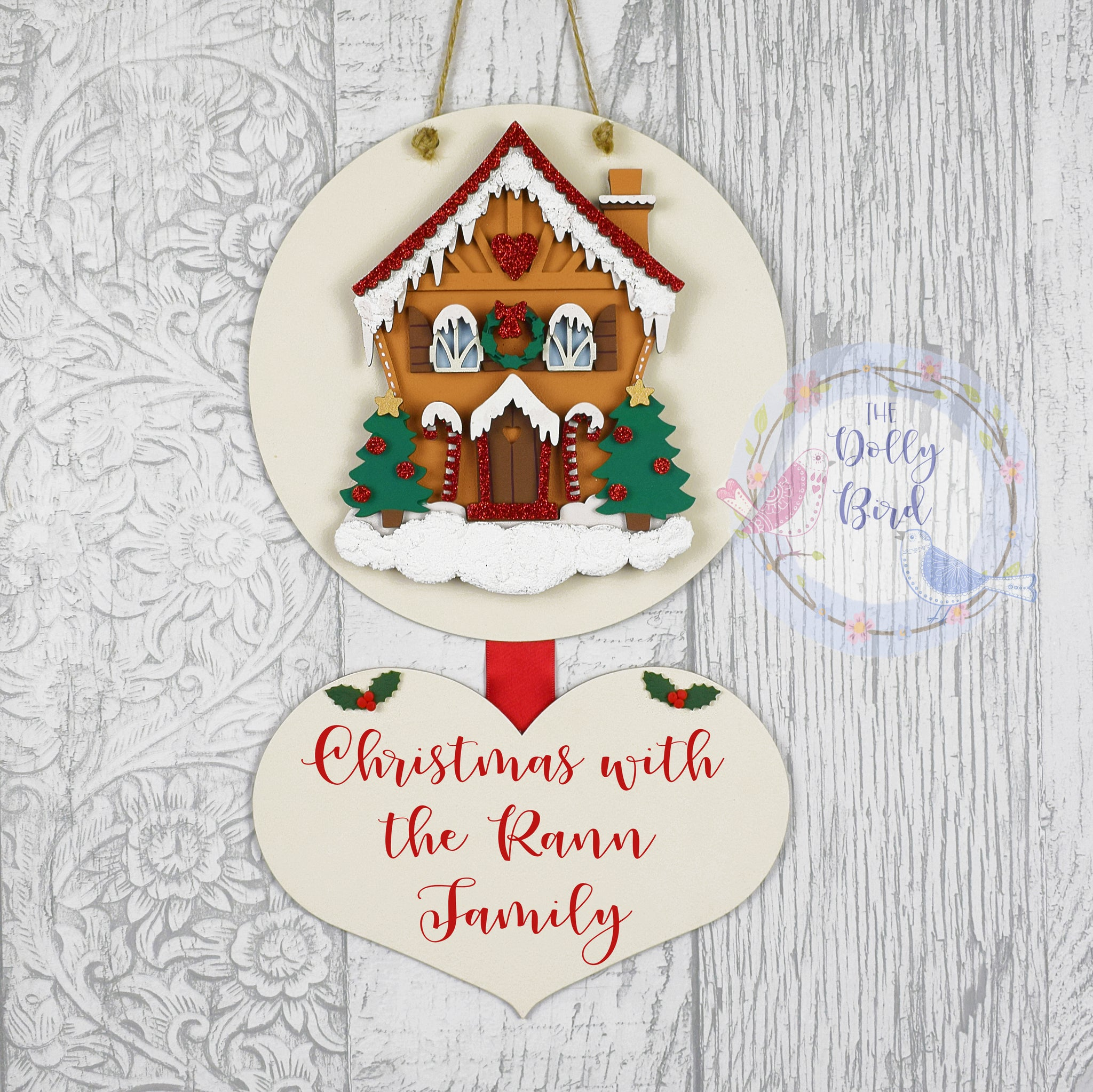 Personalised Family Christmas Wooden Gingerbread House Sign, Personalised Christmas Family Sign, Christmas Sign, Father Christmas Plaque, Rustic Christmas Sign, Gingerbread House, Traditional Decor