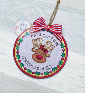 Baby Girls First Christmas Tree Decoration, Babys 1st Christmas 2020, Baby Girl Tree Decoration, Baby Girl Tree Ornament, Baby Christmas