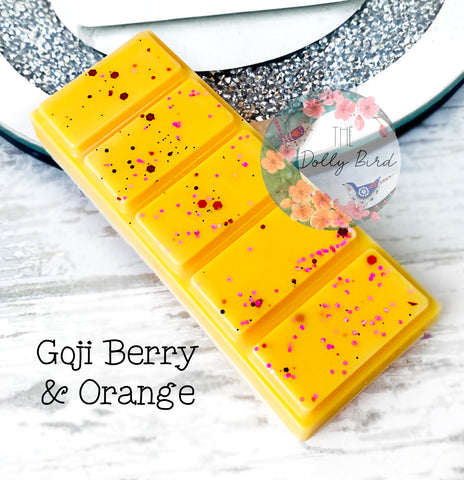 Goji Berry And Orange Wax Melt Snap Bar, Fruit Scented Wax, Soy Wax Melts, Wax Snap Bar, Tropical Scented Wax Melts, Citrus Wax Melts