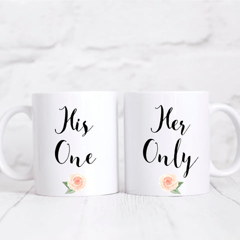 His One Her Only Matching Mug Set