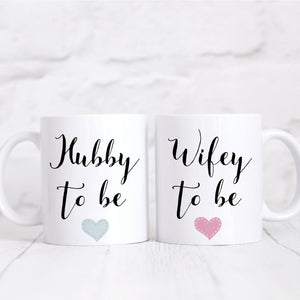 Hubby To Be Wifey To Be Matching Mug Set, His And Hers Mugs, Wedding Gift, Valentines Gift, Engagement Gift, Coffee Mug set, Coffee Lover