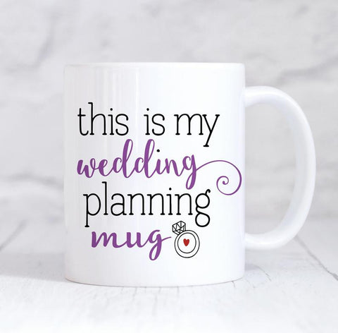 This Is My Wedding Planning Mug, Future Mrs Personalised Wedding Planning Mug, Wedding Planning Mug, Future Mrs Mug, Engagement Mug, Engagement Gift, Proposal Gift, Wedding Planner, Personalised Engagement Gift, For Her