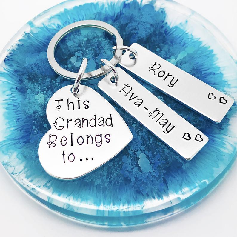 This Grandad Belongs To Personalised Keyring, Grandad keyring, this Grandad belongs to keyring