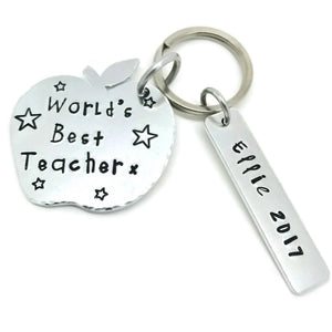 Thank You Teacher personalised keyring