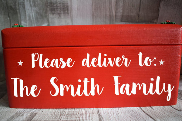 Christmas Eve box, Wooden Personalised Christmas Eve Box, Night Before Christmas Box, Christmas Box, Grandchildren, Traditional, kids