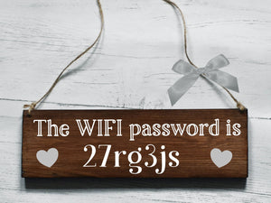 Wifi Password Wooden Sign, Wooden Wi-Fi Password Sign, Rustic Wifi Plaque, Housewarming Gift, New Home Gift, Guest House Hotel B&B Wifi Sign