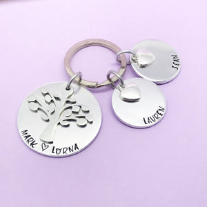 Personalised Family Tree Keyring